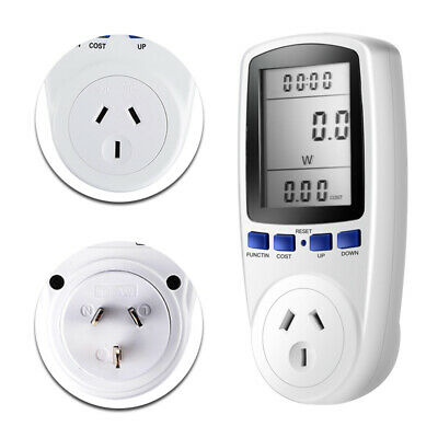 AU Plug Power Meter Energy Consumption Electricity Usage Monitoring Socket 240V
