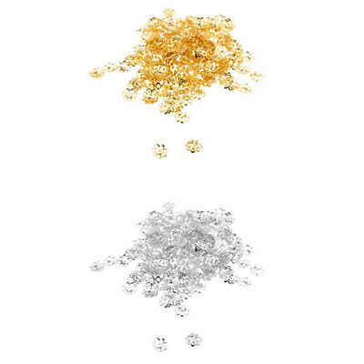 Wholesale 600x Copper Plated Metal Flower Bead Caps 6mm Findings Gold&Silver