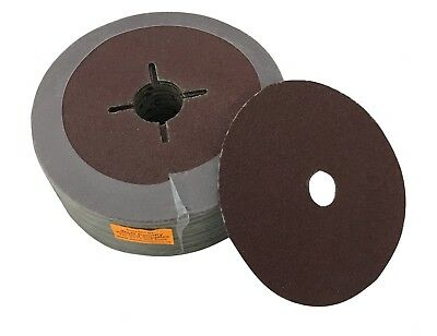 "100 x 5"" 125mm P120 BROWN SANDING DISCS"