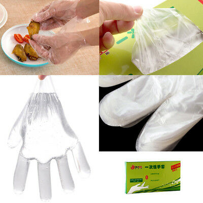 50/500XPlastic Disposable Glove Restaurant Home Cooking Service Catering Hygiene