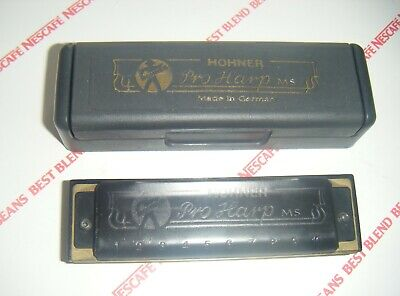 HOHNER PRO HARP MS 10 HOLE HARMONICA in KEY of C Boxed