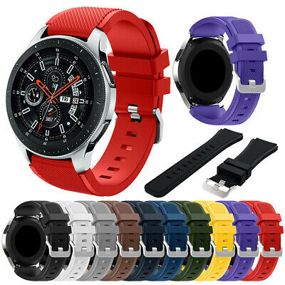 Soft Silicone Wristband Bracelet Watch Band Strap for Samsung Galaxy Watch 46mm