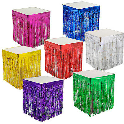 Party Metallic Fringe Table Skirt Foil Tinsel Tassel Table Wall Curtain Decor
