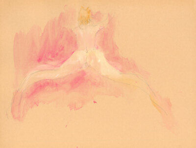 Peter Collins ARCA - c.1970s Pen and Ink Drawing, Nude Study