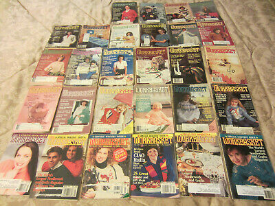 1980's 1990's Vintage WORKBASKET Magazines PATTERNS INSTRUCTIONS LOT OF 28