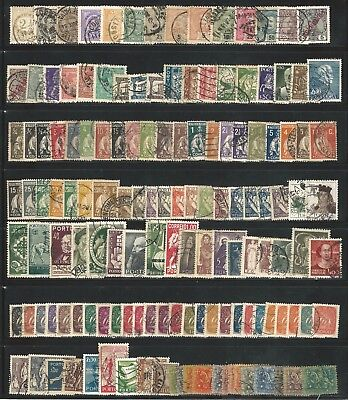 Portugal: Lot of 140 different stamps used some values defect PT16
