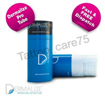 Dermalize Pro Tattoo Aftercare Cover Up Film, Saniderm 10m Roll or 5 x 15cm Pack