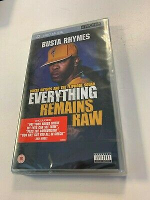 * Sony PSP NEW AND SEALED * BUSTA RHYMES EVERYTHING REMAINS RAW * UMD