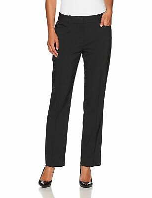 New $289 Tahari Asl Petite Women'S Black Pinstripe Straight-Leg Dress Pants 16p