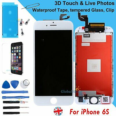 White Screen For Apple iPhone 6S LCD Digitizer Assembly Replacement 3D Touch UK