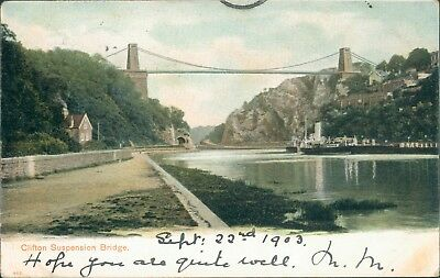Clifton suspension bridge; 1903; peacock