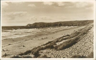 Real photo; perranporth; the sands;