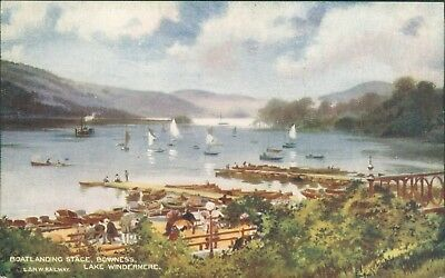 Windermere; Bowness boating stage; McCorquodale