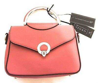 150d21463789 LA TERRE FASHION Satchel PETA Approved Vegan Leather Scarlett ...