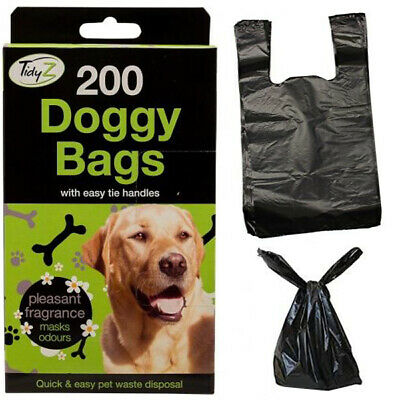 Dog Poop Bags Doggy Poo Sacks Scented Pet Waste Tie Handle Strong Pooper Scooper