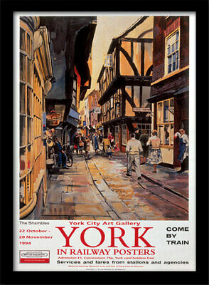 York In Railway Posters - Framed 30 x 40 Official Print