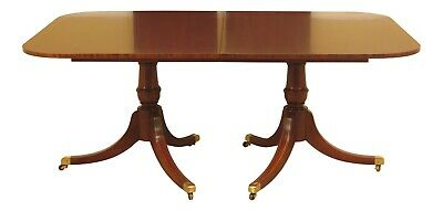 L30737EC: HICKORY CHAIR CO. Banded Mahogany Dining Room Table
