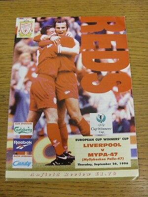 26/09/1996 Liverpool v Mypa-47 [European Cup Winners Cup] . We try and inspect a