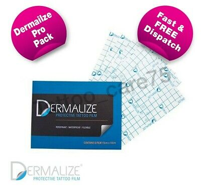Dermalize Pro Tattoo Aftercare Cover Up Film, Saniderm - 5 pack - 15cm x 10cm