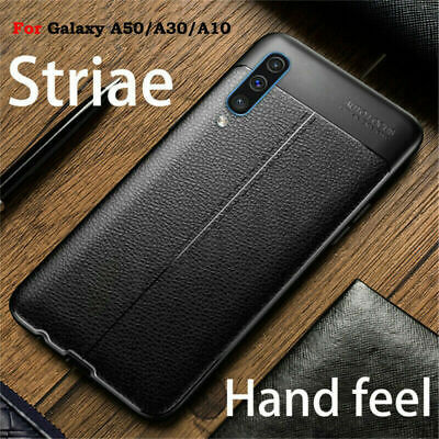 For Samsung Galaxy A50 A30 A10 Slim Shockproof Soft TPU Leather Back Case Cover