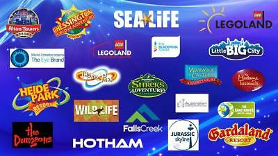 2for1 Code or Voucher Merlin Theme parks Alton Towers Chessington Thorpe Park