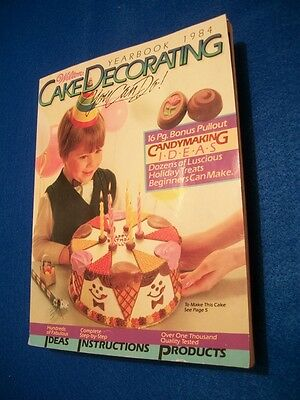 Wilton Cake Decorating Yearbook 1984 w/16 Pg. Candymaking  Ideas Pullout