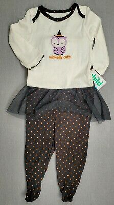 5be704e25 CHILD OF MINE BY CARTER'S BABY GIRL 2PC Pink White FLORAL Elephant 3 ...