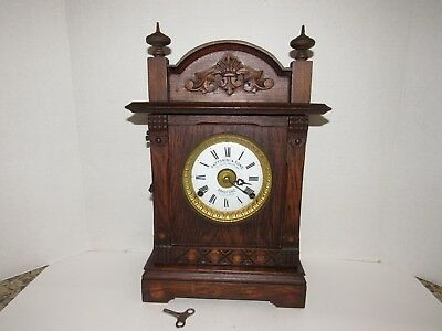 Antique Fattorini & Sons Shelf/Mantel Clock With Alarm, 8-Day, Key-Wind