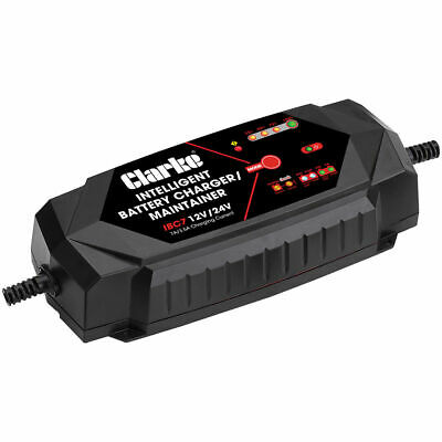 Clarke IBC7 Intelligent 7A Battery Charger 12/24V 6267008 Car Motorcycle