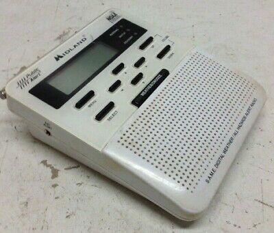Midland Weather Alert Radio WR-100 Untested Used for Repair/Parts