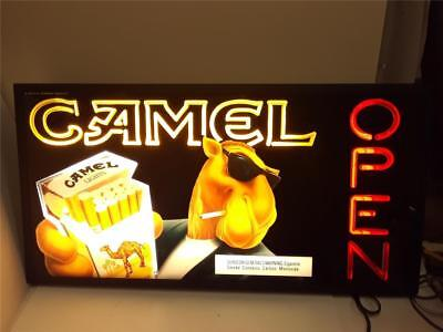 Very Rare Vintage Sealed Neon Camel Cigarette Open Sign NEW Never Used MINT