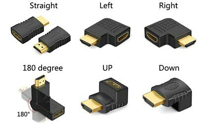 90 Degree Left Right Angle HDMI Male to Female Adapter Extension Cable Converter