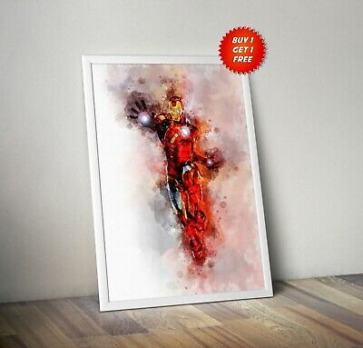 Iron Man,Poster, Print, Avenger, Infinity War,Watercolour,Tony Stark,Marvel,Suit