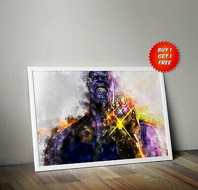 Thanos, Poster, Print, Infinity War, Evil,Villian,Marvel,Titan,Gift,Gift For Him