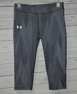 Under Armour HeatGear Striped Capri Pants Youth Girls Size YXL