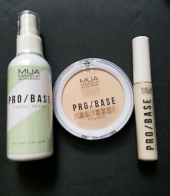 Brand New MUA Makeup Academy Fixing Spray Full Coverage Pressed Powder Concealer