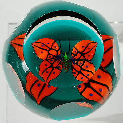 Caithness Butterfly Mini Paperweight Limited Edition 1994 Allan Scott