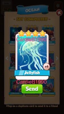 X1 Jellyfish Coin Master trading card !!!Super Fast Dispatch!!!