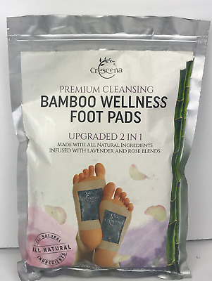 Crescena Premium Cleansing Bamboo Wellness Foot Pads 10 Day Cleanse 20 Pads