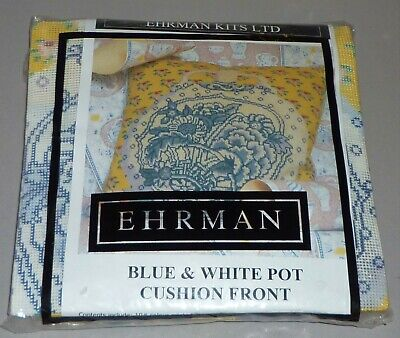 Ehrman Blue & White Pot Kaffe Fassett Tapestry Needlepoint Kit - Very Rare