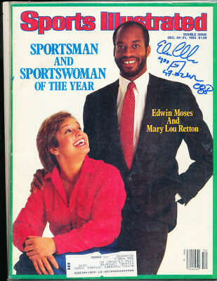 1977 Sports Illustrated sportsman of the year Edwin Moses label jsa