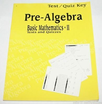 A BEKA BOOK Abeka Pre Algebra Basic Mathematics II Grade 8 Teacher Test  Quiz Key