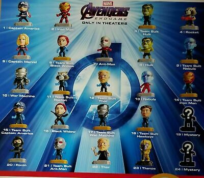Avengers (2019) McDonalds Happy Meal Toys- Fast Shipping!