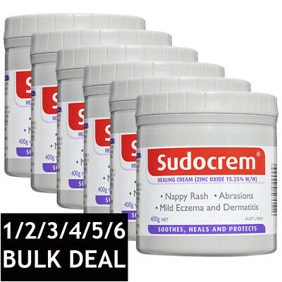 SUDOCREM HEALING ANTISEPTIC CREAM NAPPY RASH ECZEMA CUTS BABY SKIN CARE 400g