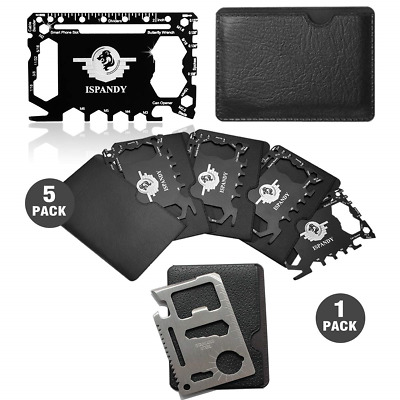 Pocket Tool Credit Card Tool Gift Set with 46 in 1 Multi Wallet Tool Card,11 in