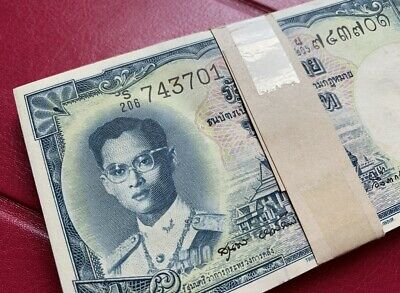 Coins & Paper Money Thailand Banknote 500 Baht Series 11 Solid/ Nice Number 83 T 999999 Unc Grade 64