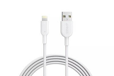 Anker PowerLine II Lightning Charging Cable 3m White iPhone 6 7 Apple Certified