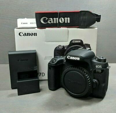 Canon EOS 77D 24.2 MP Digital SLR Camera Black Body (NEW)