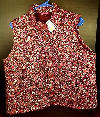 9c918ab1a1 SZ L PILCRO and the Letterpress Anthropologie Vest Quilted Boho ...
