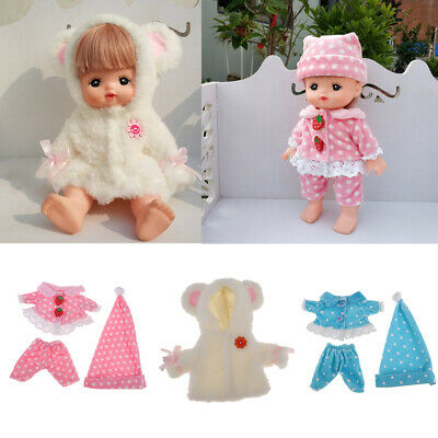 "Cute 3 Suit Clothes for MellChan Baby Doll 9-11"" Dolls Coat Jacket Pants Hat"